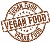 Vegan Food Brown Grunge Round Vintage Rubber Stamp.vegan Food Stamp.vegan Food Round Stamp.vegan Foo poster