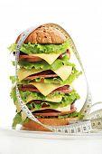 Постер, плакат: Естественная форма продукты питания кондитерские изделия Фаст фуд Снят в студии