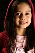 Beautiful Girl In Hooded Jumper