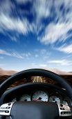 Fast Sports Car Steering Wheel