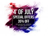 4th of July Special Offers, 4th of July Sale Poster, Sale Banner, Creative Abstract Sale Background  poster