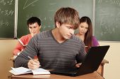 stock photo of students classroom  - Educational theme - JPG
