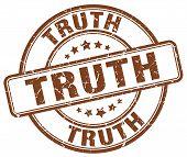 Постер, плакат: Truth Brown Grunge Round Vintage Rubber Stamp truth Stamp truth Round Stamp truth Grunge Stamp truth
