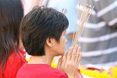 Praying And Incense