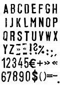Grunge Alphabet - Vector