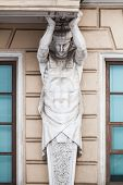 Постер, плакат: Atlas Statue As Decorative Column Of The Facade