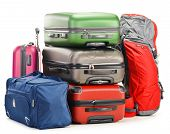 Luggage Consisting Of Large Suitcases Rucksack And Travel Bag poster