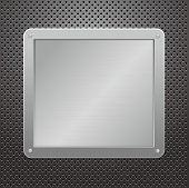 Placa metálica de plata brillante