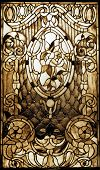 Vintage stained-glass window