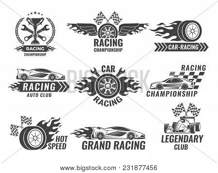 Monochrome Labels And Badges Of