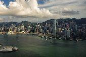 Panorama Of Hong Kong City Skyline poster