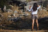Young Girl Dressed Adventurer