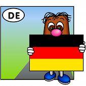 'Brownie' Showing The German Flag