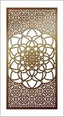 Vector Template Laser Cut Panel. Openwork Pattern With Mandala For Decorative Panel. Wall Panels Or  poster