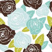 Valentine seamless pattern with rose design