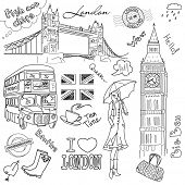 foto of big-ben  - London doodles - JPG