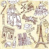 pic of moulin rouge  - Sightseeing in Paris doodles - JPG