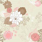 Vektor Blume (Seamless Pattern)