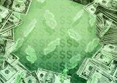 Tumbling Dollar Signs
