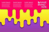 Colored Modern Rounded Background Poster. Round Corners Sweet Summer Poster. Liquid Banner 3d Geomet poster