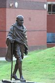 stock photo of gandhiji  - Mahatma Gandhi memorial at the Martin Luther King Jr - JPG