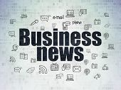 News Concept: Painted Black Text Business News On Digital Data Paper Background With  Hand Drawn New poster