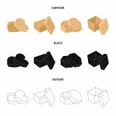 Box, Container, Package, And Other  Icon In Cartoon, Black, Outline Style.case, Shell Framework Icon poster