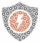 Electric Guard Mosaic Of Mechanical Wheels. Vector Cog Icons Are Combined Into Electric Guard Compos poster