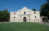 Main entrance to the Alamo in San Antonio Texas