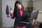 Angry busy professional woman