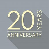 20 Years Anniversary Emblem. Anniversary Icon Or Label. 20 Years Celebration And Congratulation Desi poster