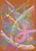 Pastel: Abstract Background With Pink Ribbon