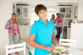 Teenagers not enjoying housework