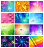 Abstract Seamless Pattern Vector Modern Abstraction And Textured Geometric Background Set Of Abstrac poster