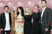 VENICE -SEP 1: Oscar Isaac; Andrea Riseborough; Madonna; Abbie Cornish; James D'Arcy at the 68th Venice International Film Festival in Venice, Italy on September 1, 2011.