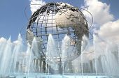 NEW YORK - AUG 5: The Unisphere in Queens, New York on August 5, 2011.  A theme symbol of the 1964 W