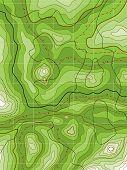 Resumen mapa verde topográfico