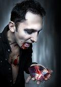 Halloween. Vampire Eat Heart.