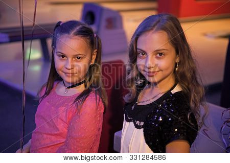 poster of Girls Best Friends Celebrate Birthday In Bowling Club. Ideas How To Celebrate Birthday For Teens. Gi