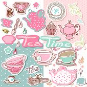 tea time scrapbook set
