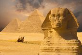 stock photo of the great pyramids  - The Great Sphinx - JPG