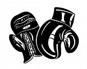 Boxing Gloves - Retro Clipart Illustration