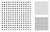 Regular Square Dots Mosaic Of Inequal Items In Different Sizes And Color Tints, Based On Regular Squ poster