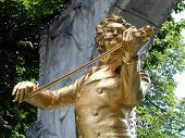 Johann Strauss Monument In The Vienna City Park.