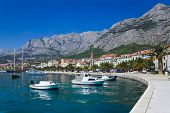 Town Makarska In Croatia