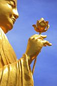 Golden Buddha Statue with Lotus