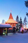 Santa Claus Main Post Office In Lapland Scandinavia Night poster