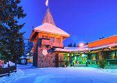 Santa Claus Main Post Office Lapland Scandinavia Night poster