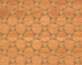 stock photo of marquetry  - Wood tile - JPG