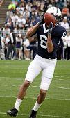 Penn State's  Derek Moye #6 catches the football